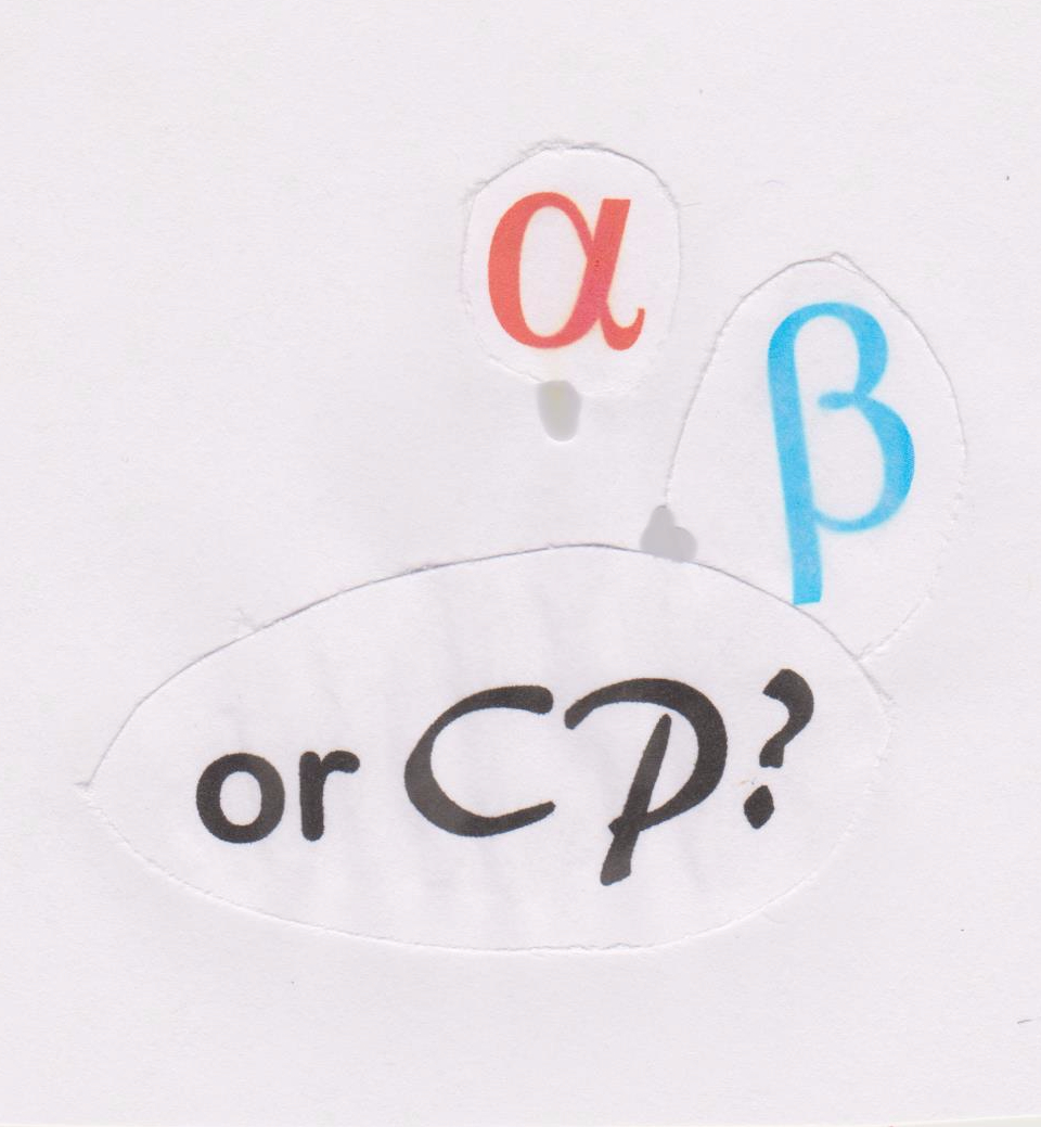 Text Box: CP or α?